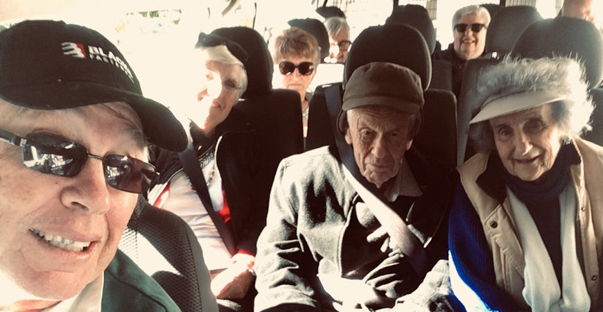 Elderly bus trip